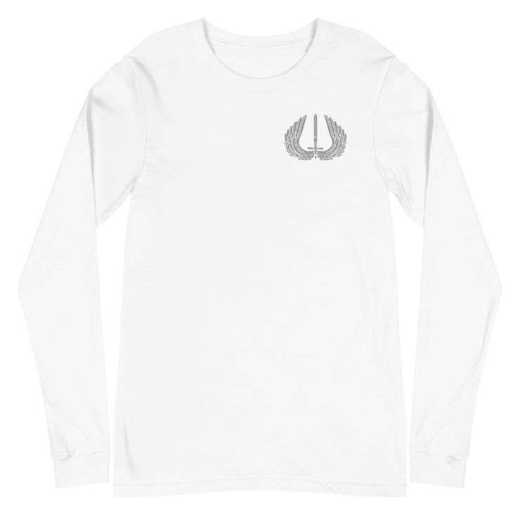 BERGEN COUNTY GREY BASICS BACK LOGO LONG SLEEVE