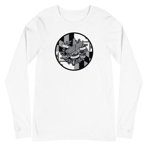 ANNE ARUNDEL GREY LOGO LONG SLEEVE