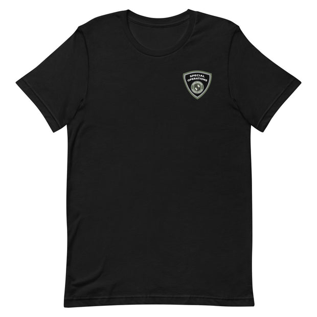 ANNE ARUNDEL GREEN SHIELD FRONT BACK LOGO TEE