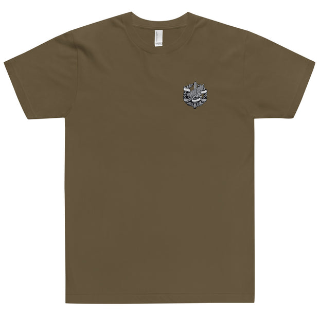ANNE ARUNDEL LEFT CHEST AND BACK LOGO TEE