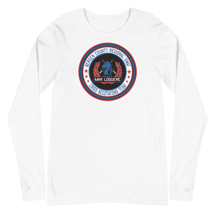 BERGEN COUNTY NEGOTIATIONS TEAM AMERICAN LOGO LONG SLEEVE
