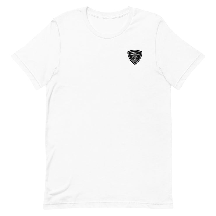 ANNE ARUNDEL GREY SHIELD FRONT QRT CREST BACK TEE