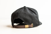 JRT Black Tobacco Suede Brown Leather Strap Hat