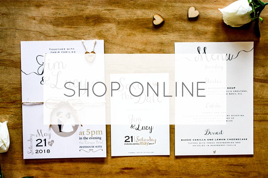 Need wedding stationery? Shop online!