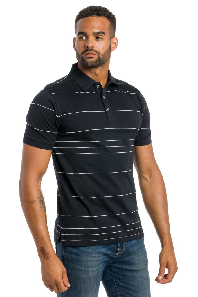 Mariner | Men's Jersey & Mesh Striped Polo