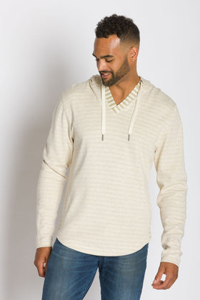 Rain | Men's Plated Knit Hooded Shirt
