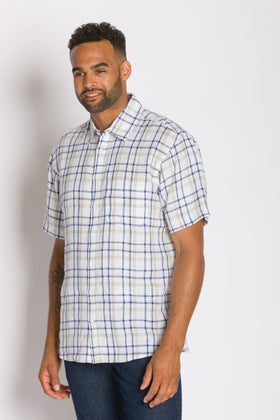 Talbot | Men's Short Sleeve Linen Shirt