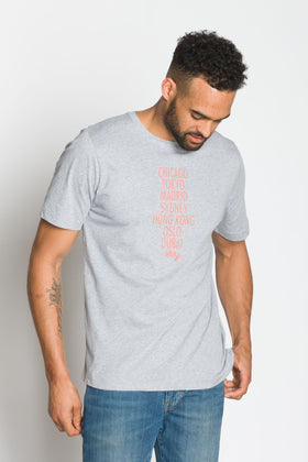 Cities | Men's Crew Neck Printed T-Shirt