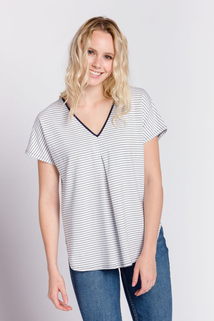 Amy | Women's Knit Short Sleeve Top