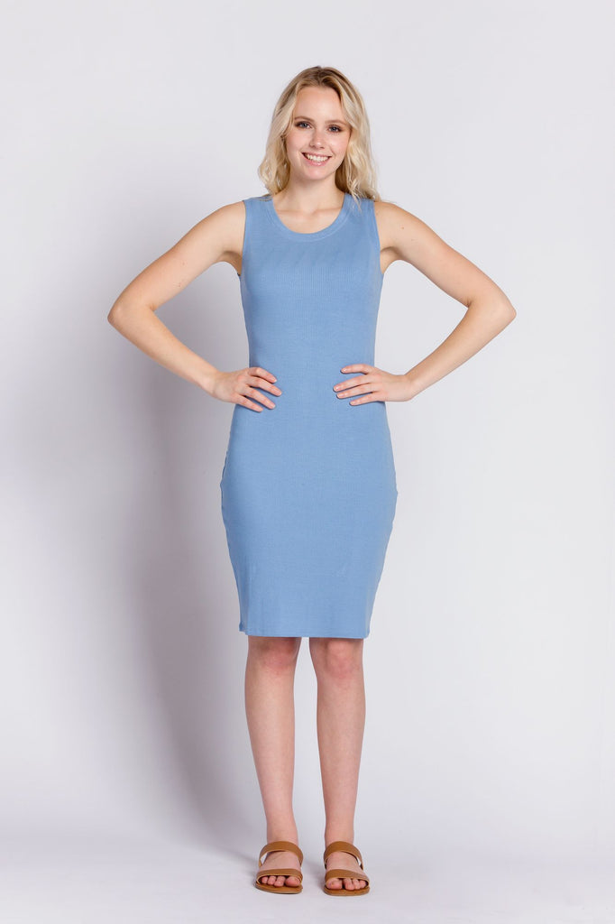 Reese | Women's Sleeveless Rib Dress