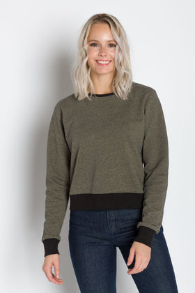 Fae | Women's Fleece Crop Top Sweatshirt