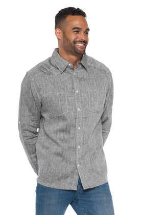 Napali | Men's Long Sleeve Linen Shirt