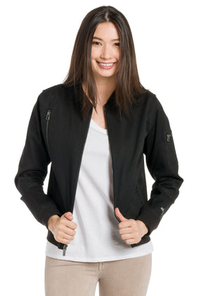 Charlotte | Women's Lined Bomber Jacket
