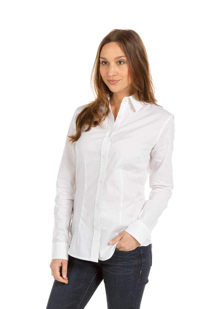Iris | Women's Button Up Poplin Shirt