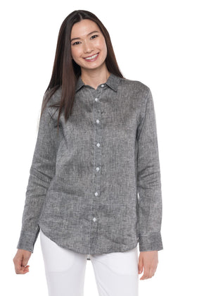Aloe | Women's Long Sleeve Linen Shirt