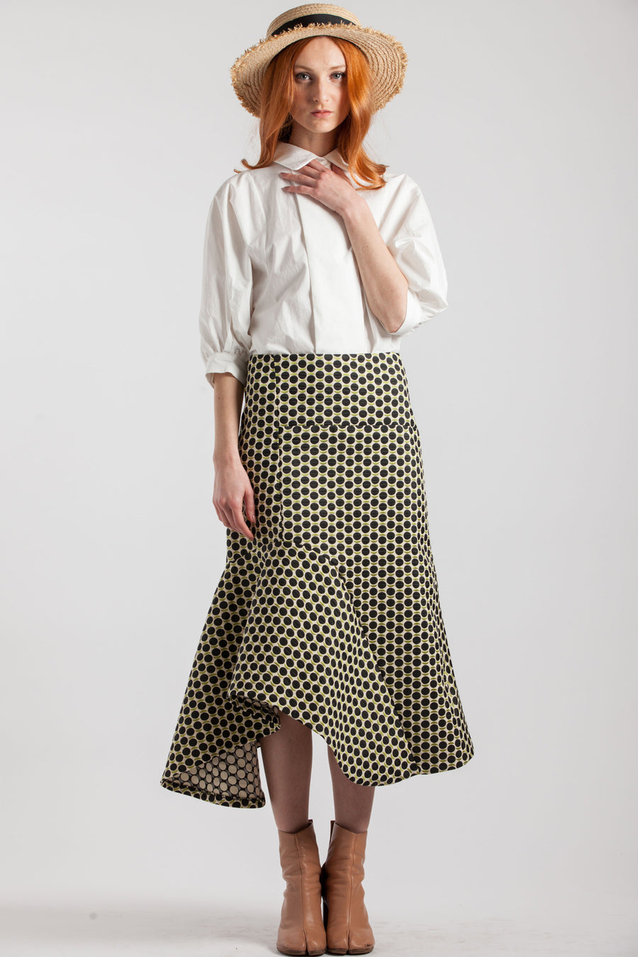 Long Jacquard Fabric Tulip Skirt - Via Ennji Online Store