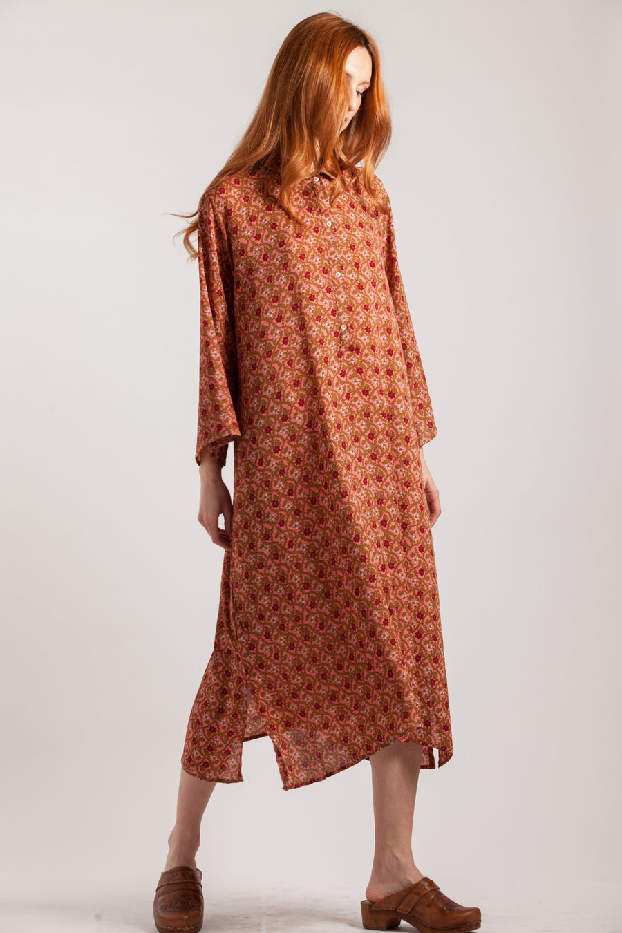 Geometric Pattern Long Sleeve Tunic Dress - Via Ennji Online Store