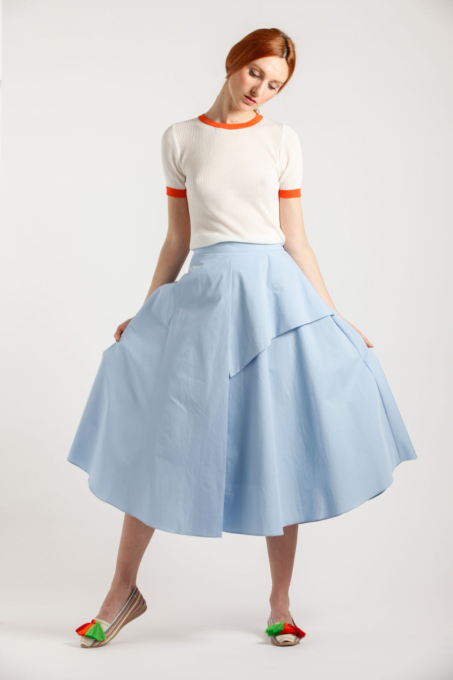 Light Blue Wide Skirt - Via Ennji Online Store