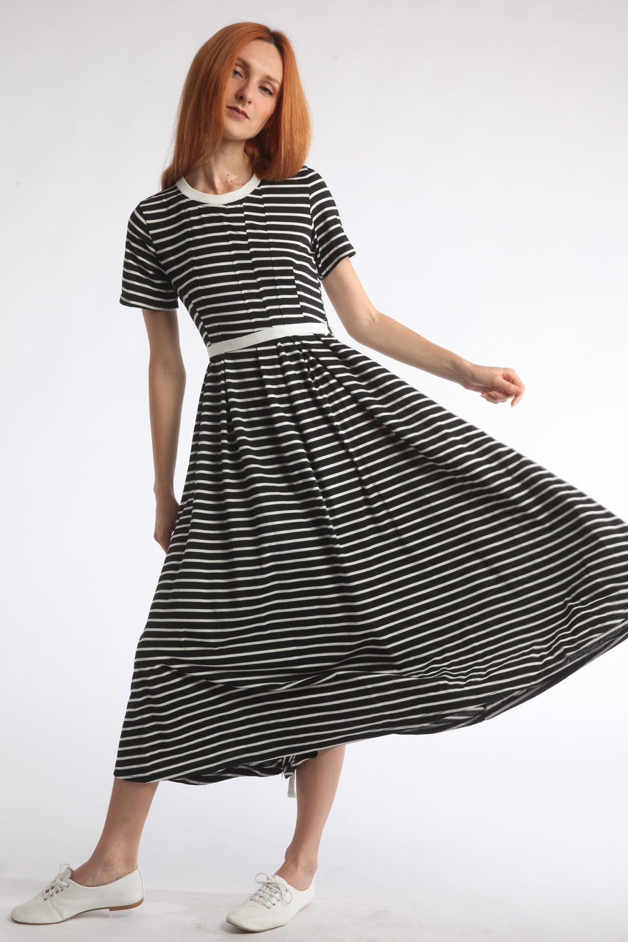 short sleeved striped dress
