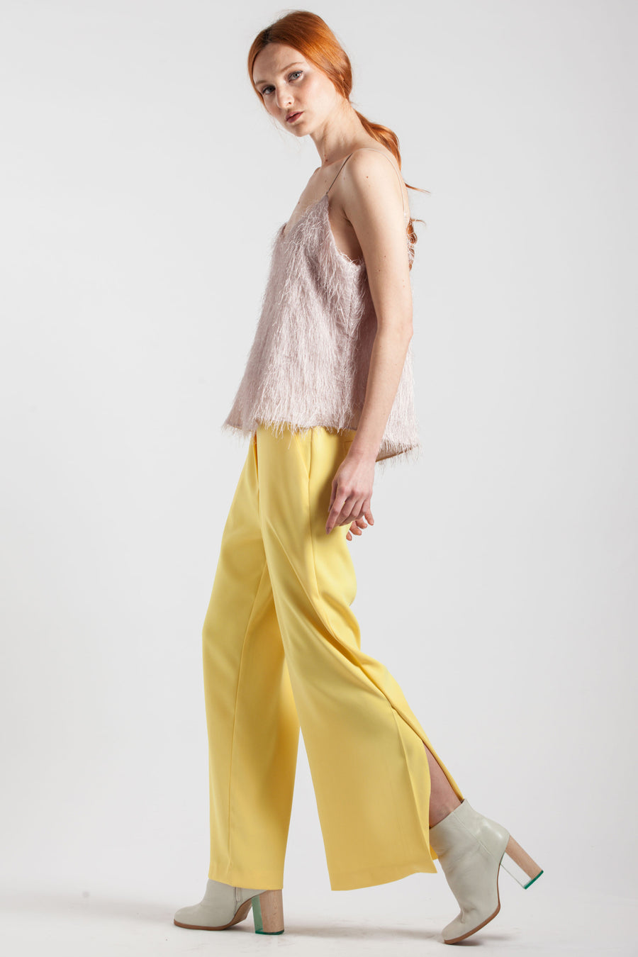 Soft Yellow Trousers - Via Ennji Online Store