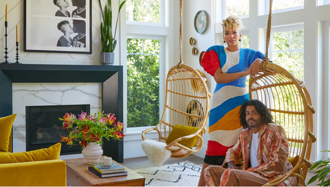 Daveed Diggs and Emmy Raver-Lampman in home