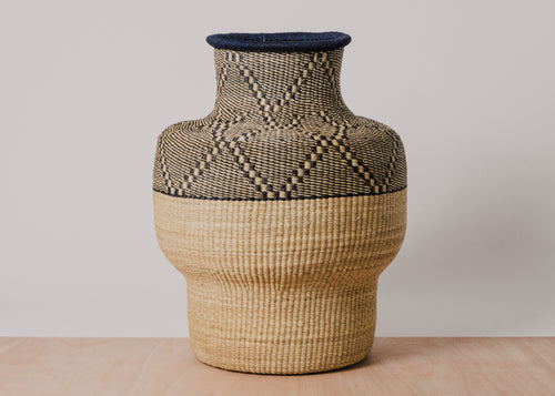 Asili Black Grass Floor Basket