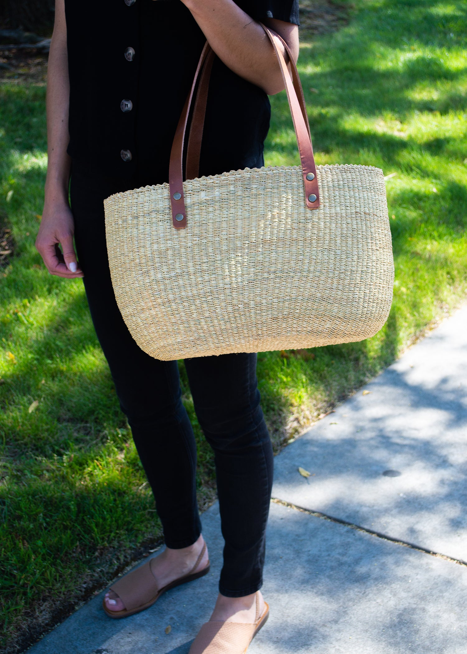 Natural Grass Handbag - KAZI - Artisan made high quality home decor and wall art