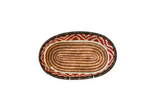 Orange Ochre Tofali Oval Basket