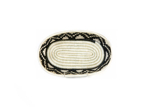 Black + White Oval Basket