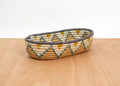 Metallic Gold + Mirage Gray Oval Basket