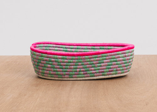 Graphic Pink Oval Basket II