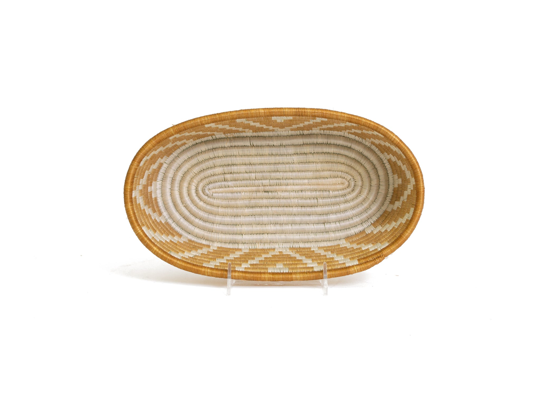 Soft Gold Oval Basket - KAZI - Artisan made high quality home decor and wall art