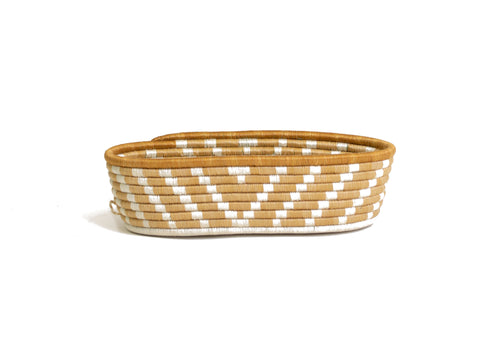 Soft Gold Oval Basket