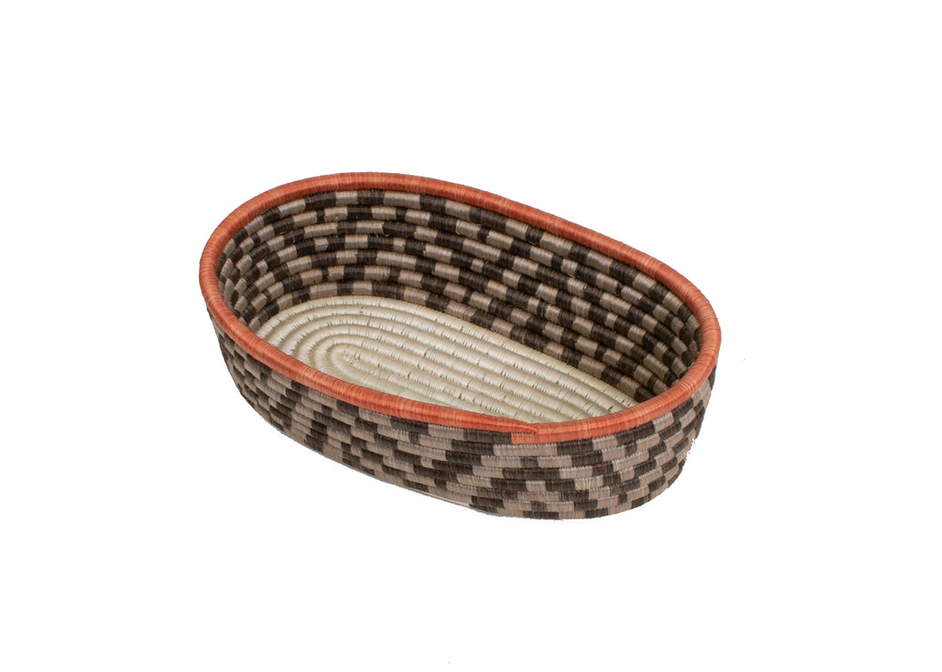 Sunset Brown Bread Basket - KAZI - Artisan made high quality home decor and wall art