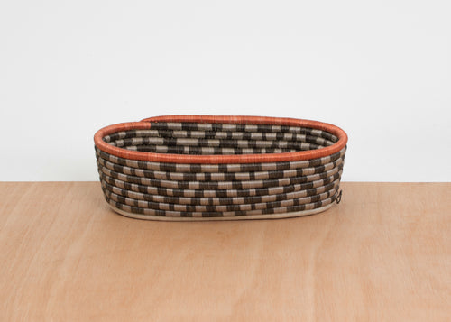 Sunset Brown Oval Basket