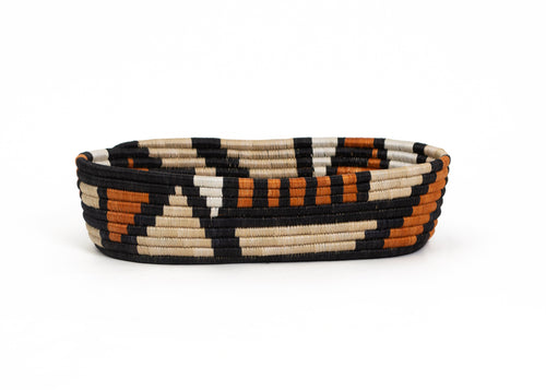 Canyon Clay Mosaic Oval Basket