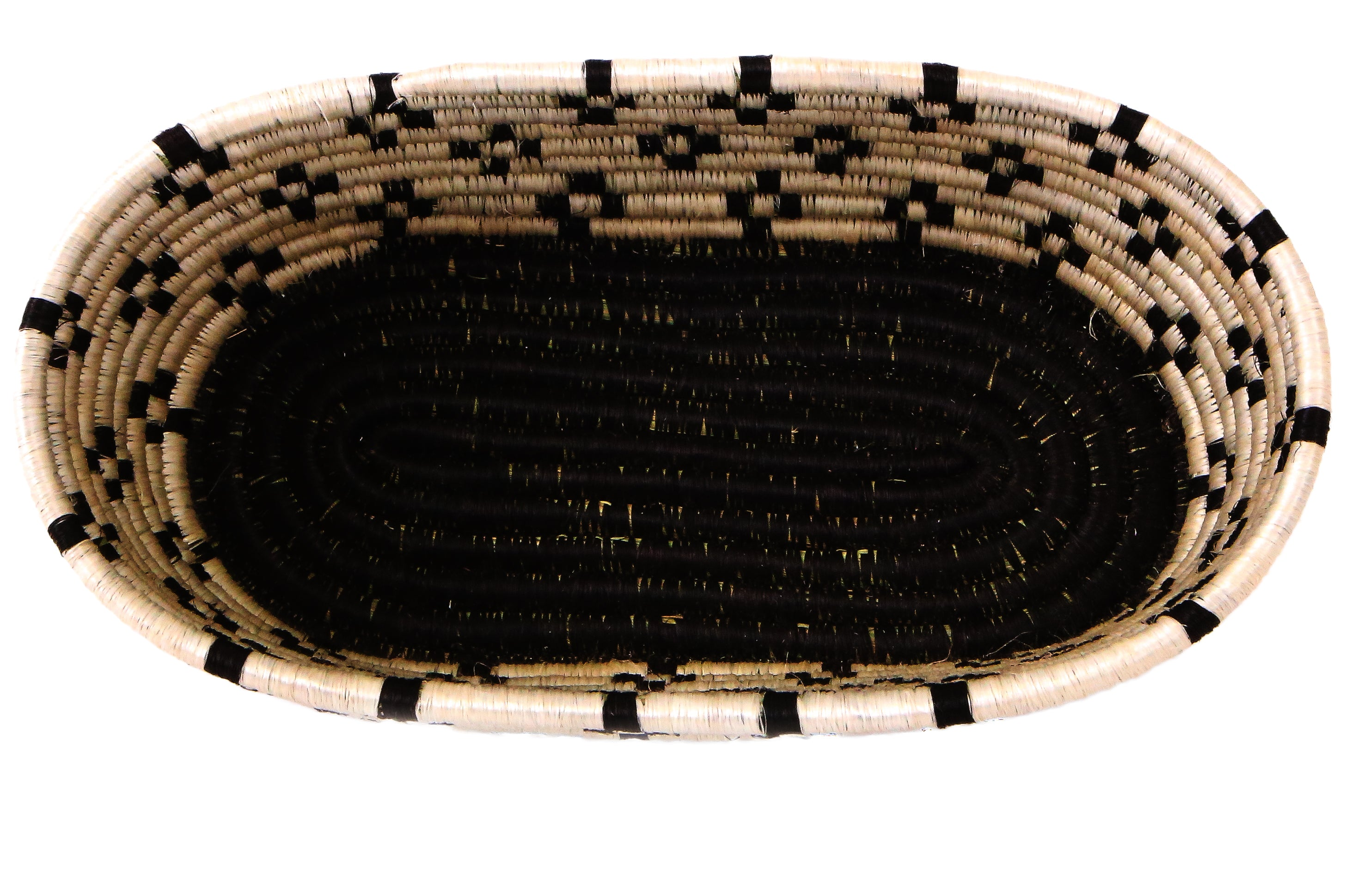Black Malkia Bread Basket - KAZI - Artisan made high quality home decor and wall art