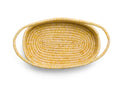 Heathered Sun Raffia Oval Basket