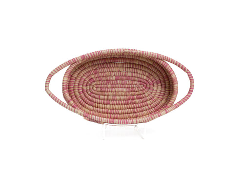 Heathered Rosette Oval Basket