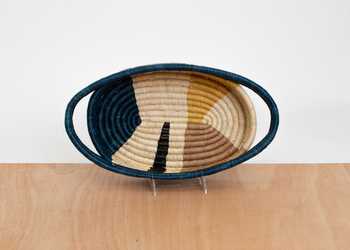 Mustard Wheel Oval Basket