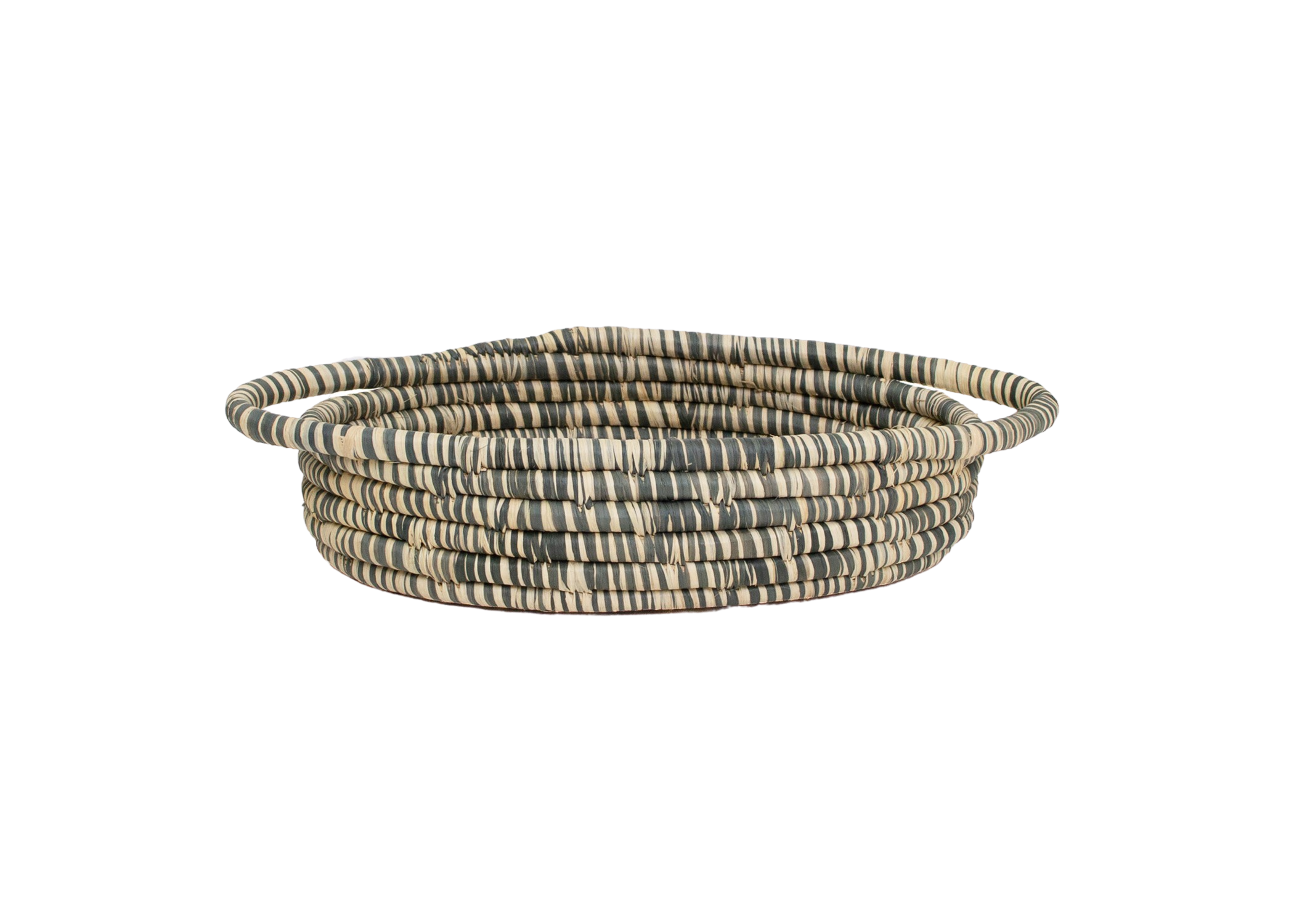 Carbon Heathered Bread Basket With Handles - KAZI - Artisan made high quality home decor and wall art