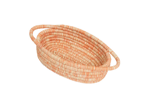 Peach Heathered Oval Basket