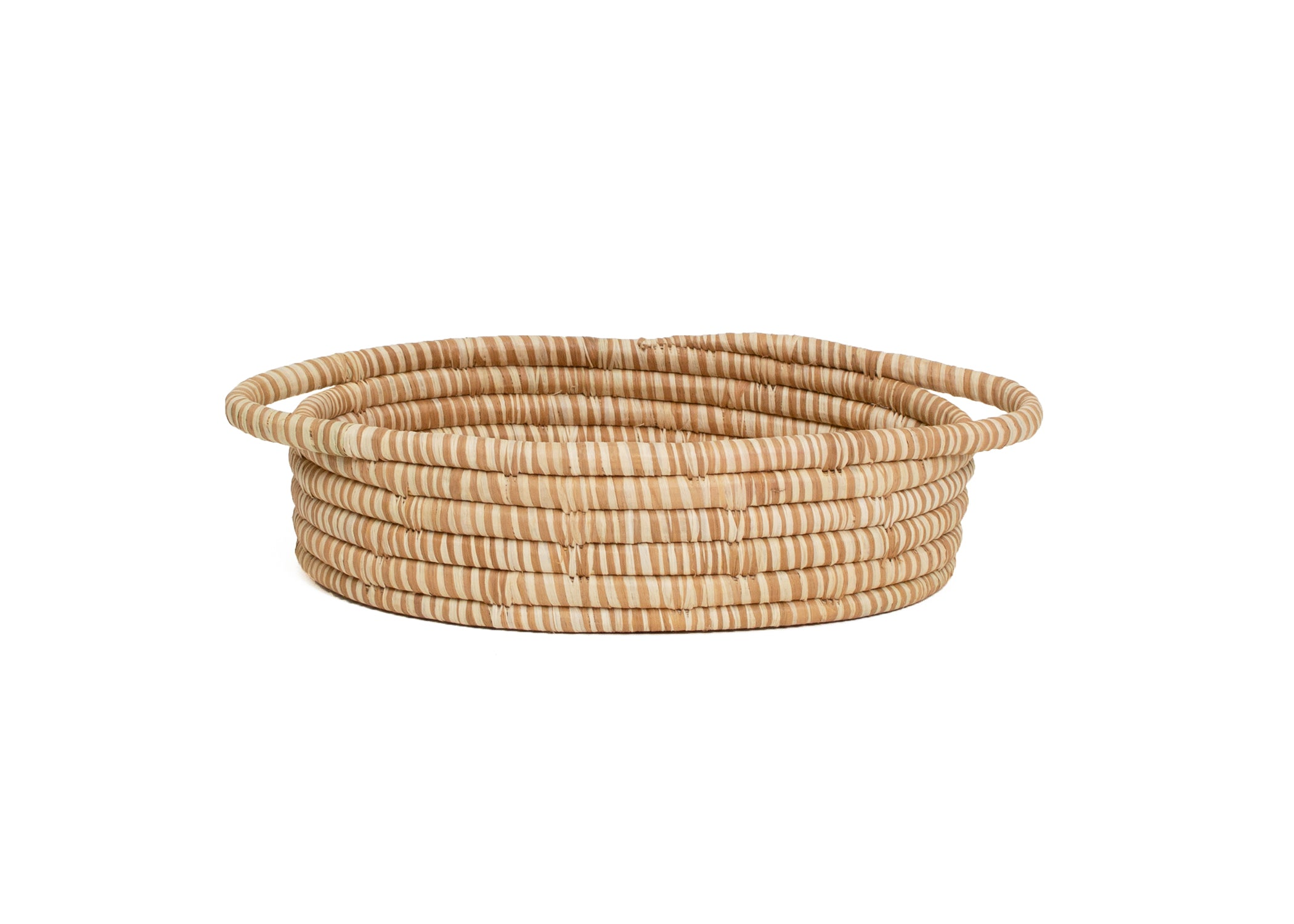 Camel Heathered Oval Basket