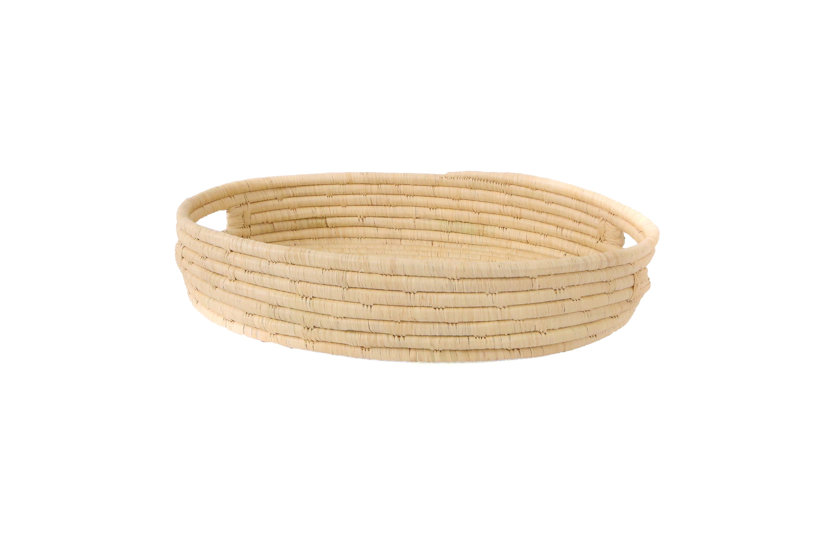 Natural Raffia Bread Basket With Handles - KAZI