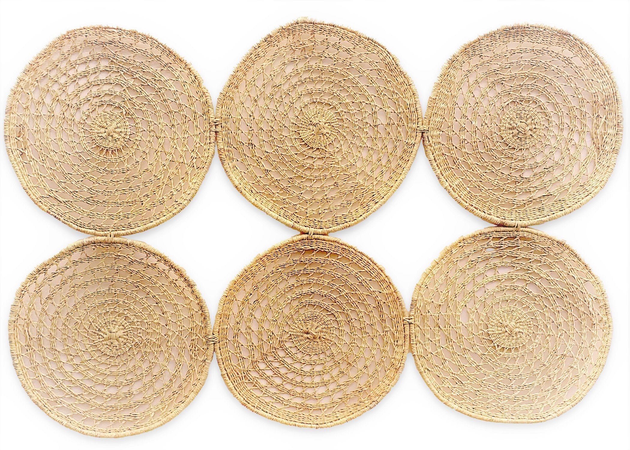 All Natural Woven Discs Queen Headboard - KAZI - Artisan made high quality home decor and wall art