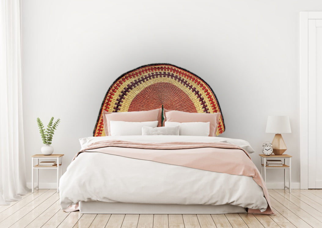 Earthy Bolga Queen Headboard - KAZI