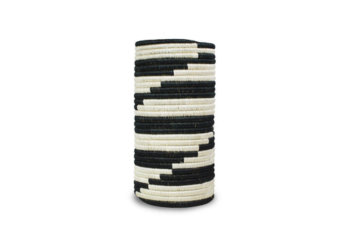 Black+ White Zigzag Vase