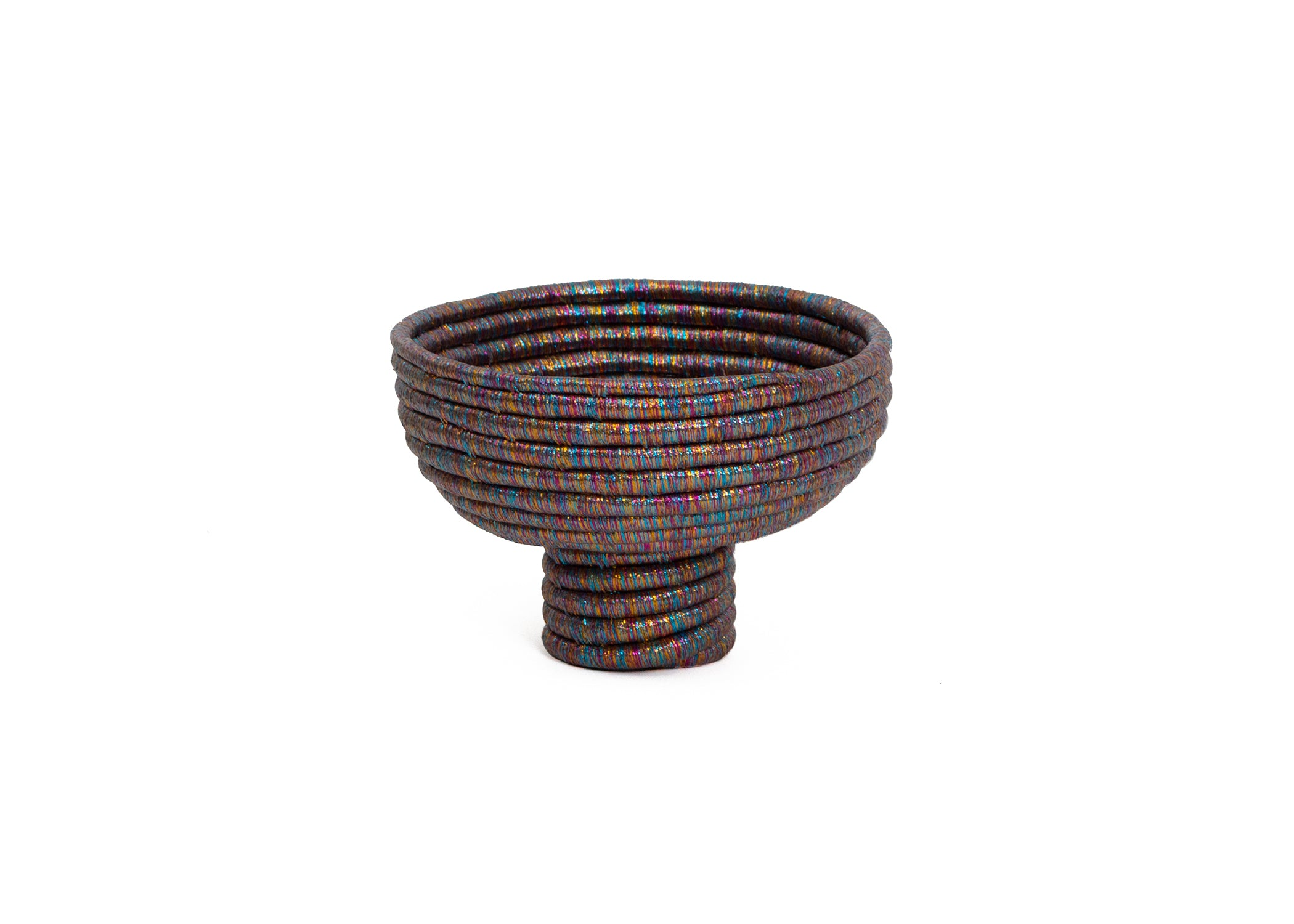 Kaleidoscopic Pedestal Bowl I - KAZI - Artisan made high quality home decor and wall art