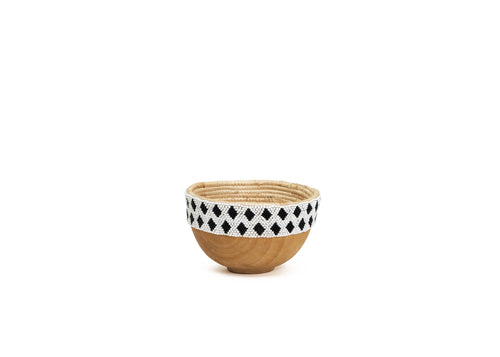 Nakala Beaded Wooden Bowl