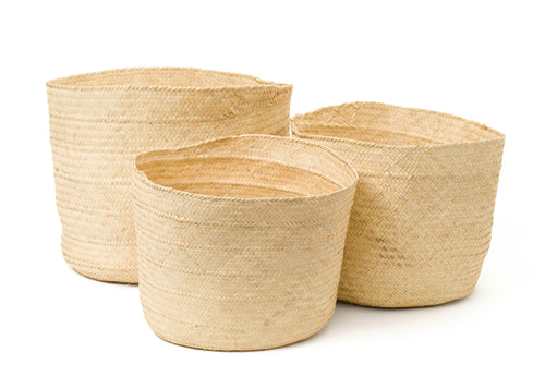 Palm Nesting Floor Baskets